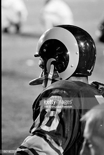 Detroit Lions at Los Angeles Rams Football - Los Angeles Memorial Coliseum. Rams Quarterback Roman Gabriel