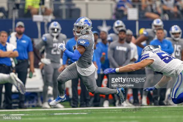 Detroit Lions cornerback Jamal Agnew runs with the ball during the game between the Detroit Lions and Dallas Cowboys on September 30 2018 at ATT...