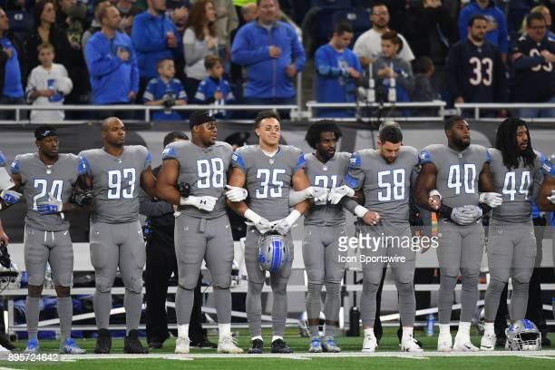Detroit Lions cornerback Nevin Lawson defensive tackle Jordan Hill defensive end Jeremiah Ledbetter strong safety Miles Killebrew Detroit Lions...
