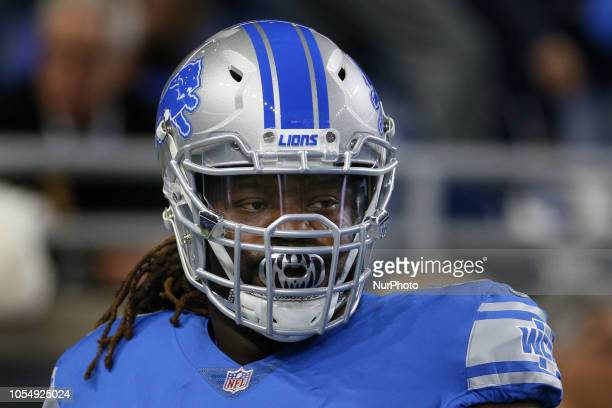 Detroit Lions defensive tackle Damon Harrison during warmups prior to the first half of an NFL football game against the Seattle Seahawks in Detroit...