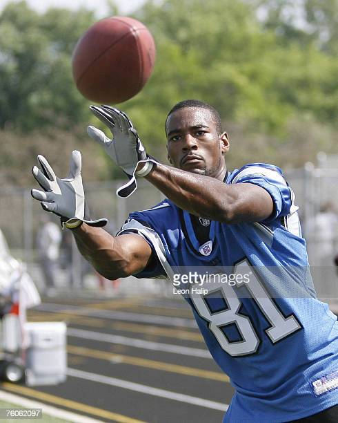 Detroit Lions first round draft pick Calvin Johnson during the Detroit Lions held their last NFL Organized Team Activities today at Renaissance High...