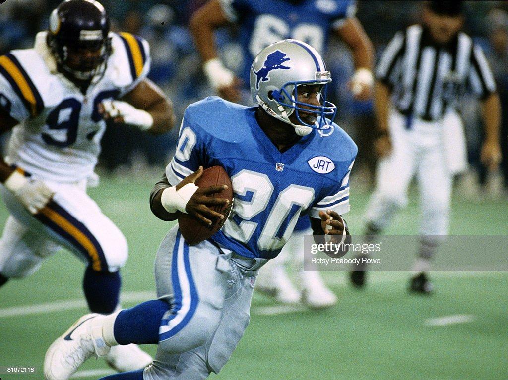 Minnesota Vikings vs Detroit Lions - October 6, 1991 : Nachrichtenfoto