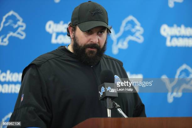 Detroit Lions head coach Matt Patricia press conference at the Detroit Lions Training Facility in Allen Park on May 10 2018 in Allen Park Michigan