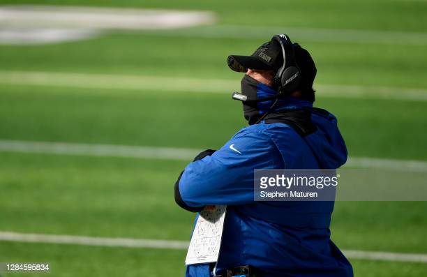 Detroit Lions head coach Matt Patricia stands on the sidelines during their game against the Minnesota Vikings at U.S. Bank Stadium on November 08,...