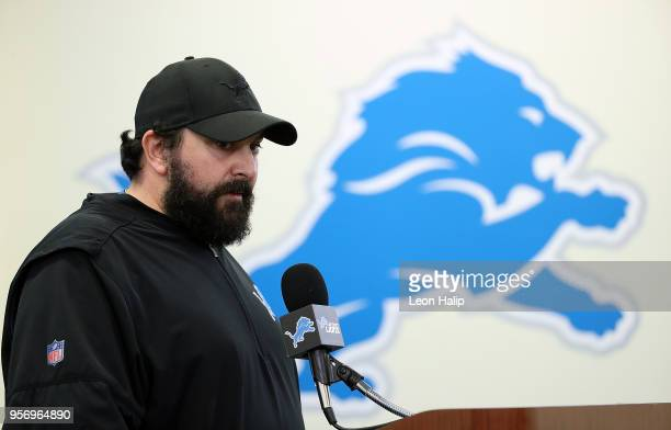 Detroit Lions head coach Matt Patricia talks during his press conference at the Detroit Lions Training Facility in Allen Park on May 10 2018 in Allen...