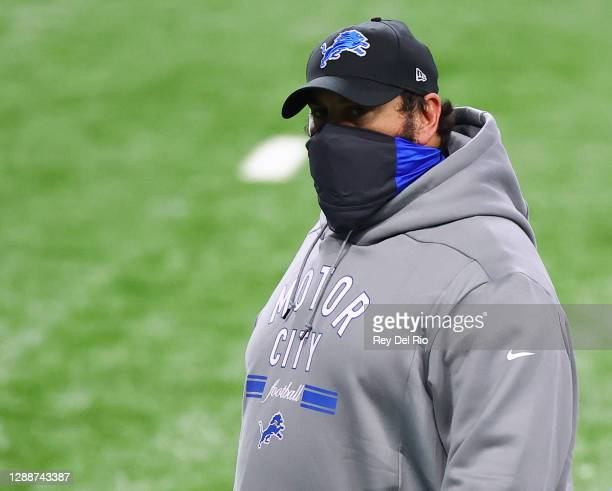 Detroit Lions head coach Matt Patricia walks off the field after an NFL football game between the Houston Texans and the Detroit Lions at Ford Field...