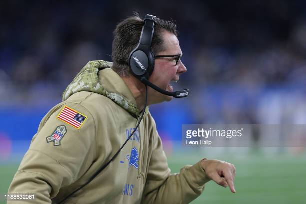 Detroit Lions linebacker coach Al Golden watches the action during the first quarter of the game against the Dallas Cowboys at Ford Field on November...