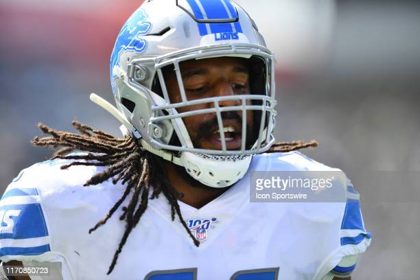 Detroit Lions Linebacker Jalen Reeves-Maybin runs toward the sideline in the first half during the game between the Detroit Lions and Philadelphia...
