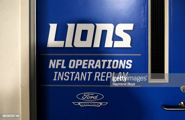 Detroit Lions NFL Operations Instant Replay Room at Ford Field, home of the Detroit Lions football team in Detroit, Michigan on October 12, 2017.