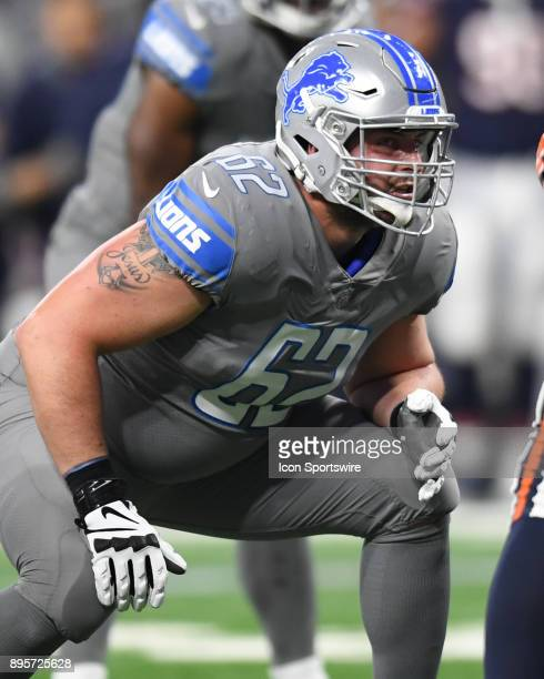 Detroit Lions offensive guard Don Barclay in action during a game between the Chicago Bears and the Detroit Lions on December 16 at Ford Field in...