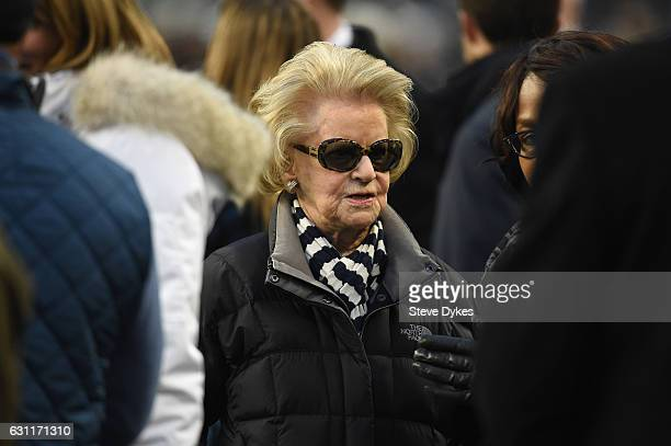 Detroit Lions owner Martha Firestone Ford is seen prior to the NFC Wild Card game between the Seattle Seahawks and the Detroit Lions at CenturyLink...