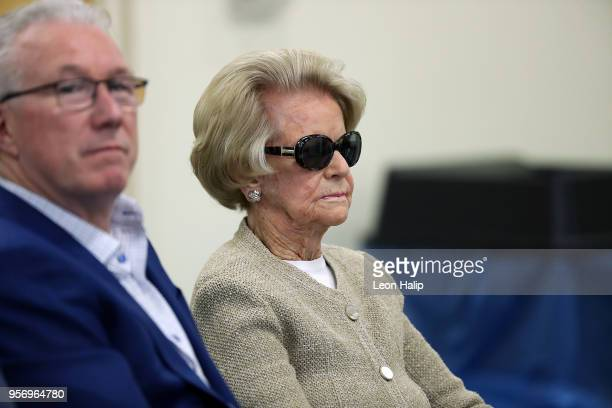 Detroit Lions president Rod Wood and majority owner and chairwoman Martha Firestone Ford attends the press conference for the Detroit Lions head...