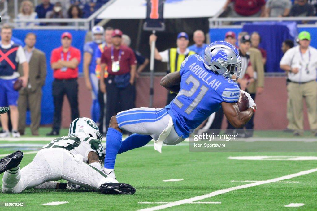 NFL: AUG 19 Preseason - Jets at Lions : News Photo