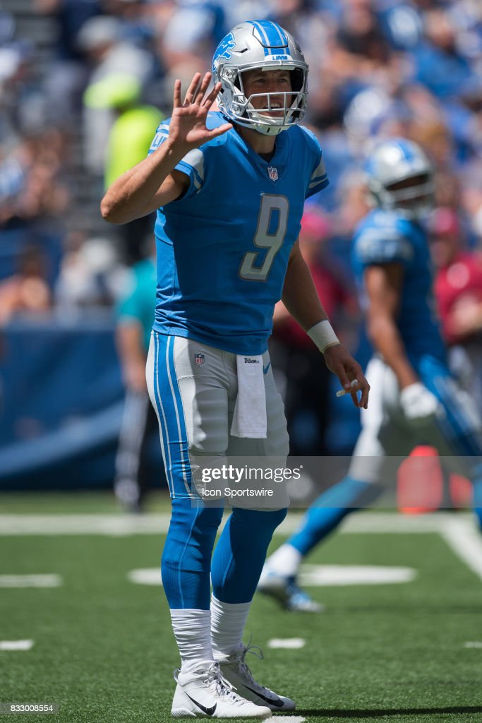 NFL: AUG 13 Preseason - Lions at Colts : News Photo