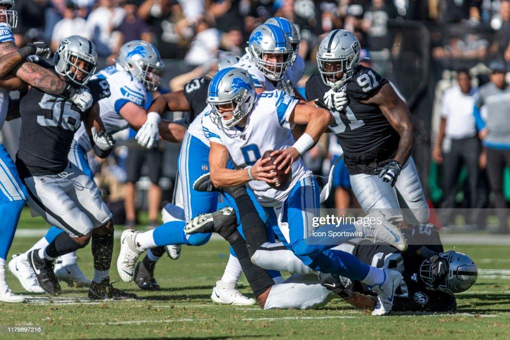 NFL: NOV 03 Lions at Raiders : News Photo