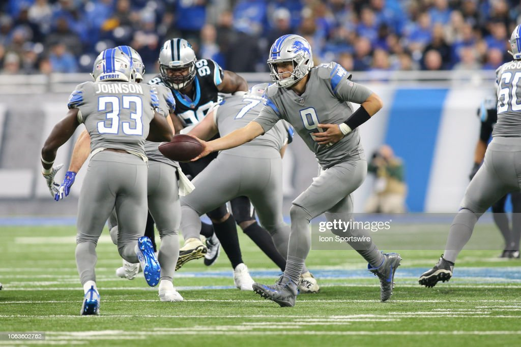 NFL: NOV 18 Panthers at Lions : Nachrichtenfoto