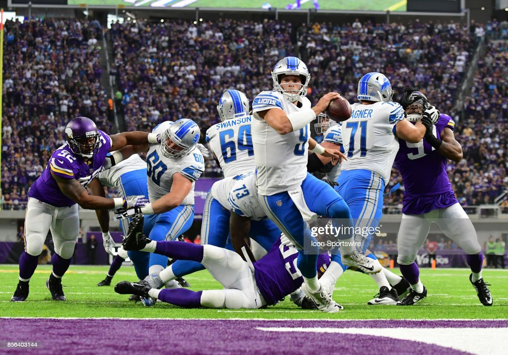 NFL: OCT 01 Lions at Vikings : News Photo