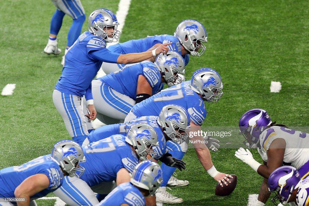 Minnesota Vikings v Detroit Lions - NFL Football Game : News Photo