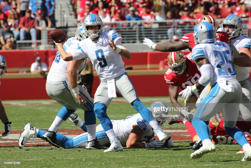 NFL: SEP 16 Lions at 49ers : News Photo