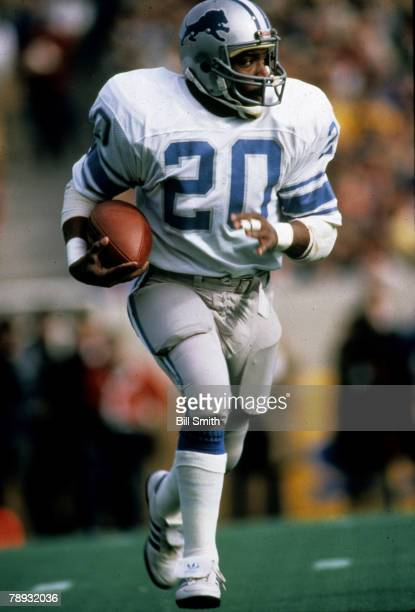 Detroit Lions running back Billy Sims on a carry in a 1614 loss to the Chicago Bears on November 18 1984 at Soldier Field in Chicago Illinois