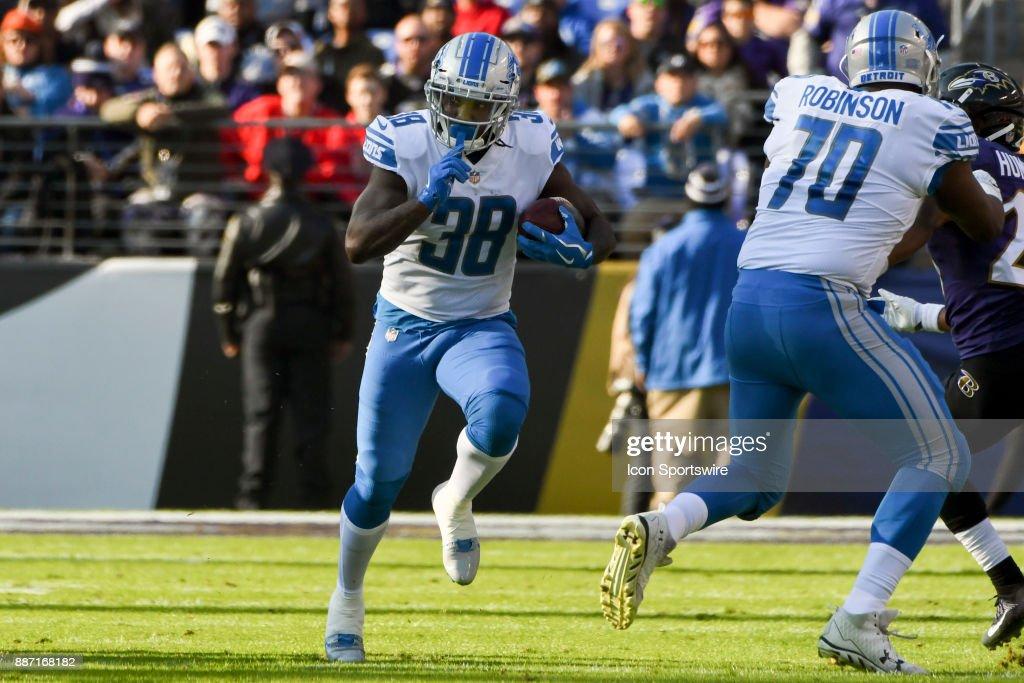 NFL: DEC 03 Lions at Ravens : Nachrichtenfoto