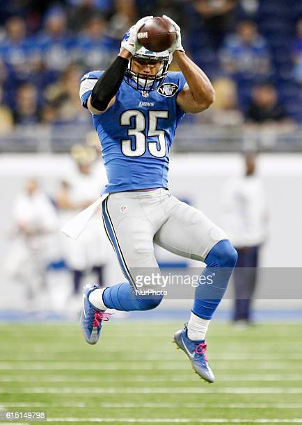 Detroit Lions strong safety Miles Killebrew is seen during pre-game of an NFL football game against the Los Angeles Rams in Detroit, Michigan USA, on...