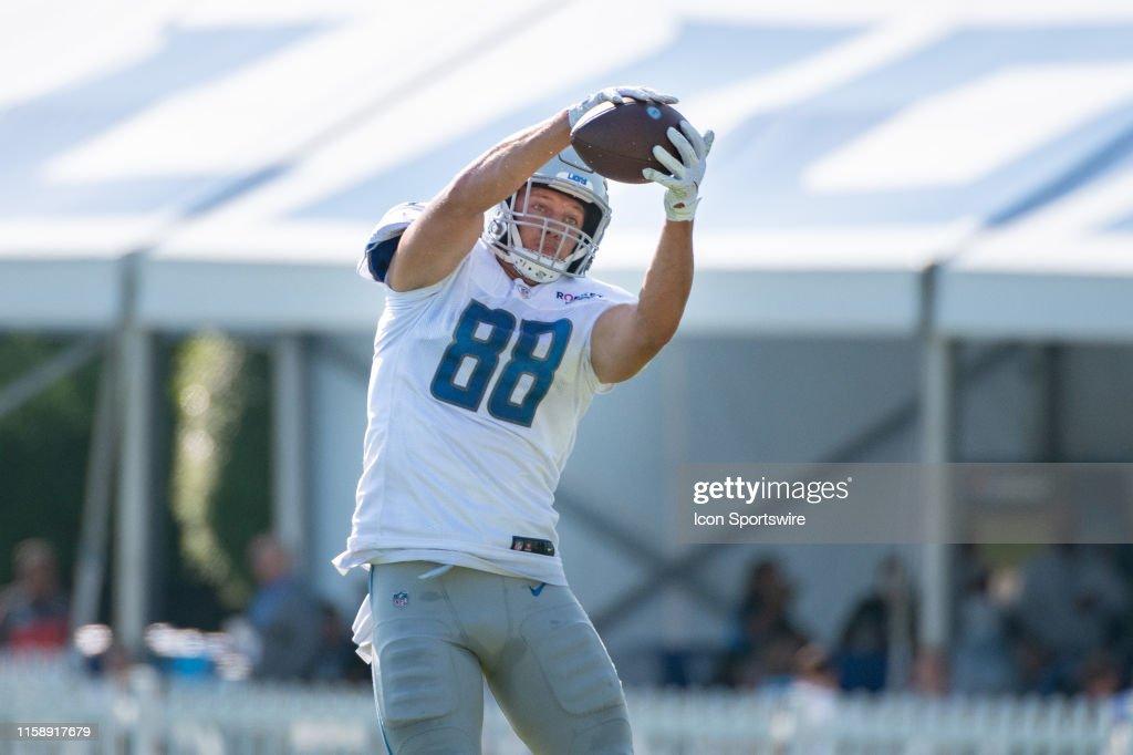 NFL: JUL 30 Detroit Lions Training Camp : News Photo
