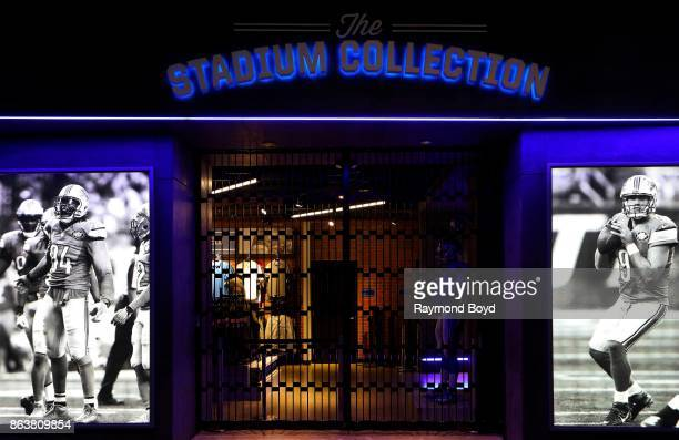 Detroit Lions The Stadium Collection store at Ford Field, home of the Detroit Lions football team in Detroit, Michigan on October 12, 2017.