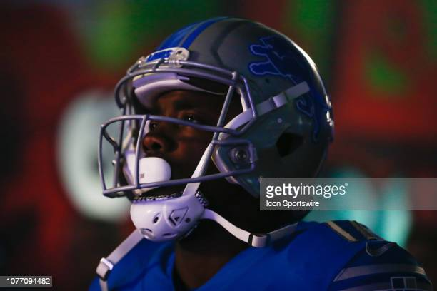 Detroit Lions wide receiver Andy Jones waits in the tunnel to take the field before the start of a regular season game between the Minnesota Vikings...