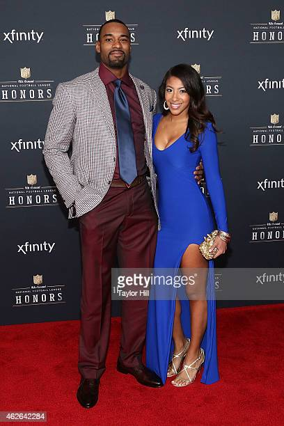 Detroit Lions wide receiver Calvin Johnson attends the 2015 NFL Honors at Phoenix Convention Center on January 31 2015 in Phoenix Arizona