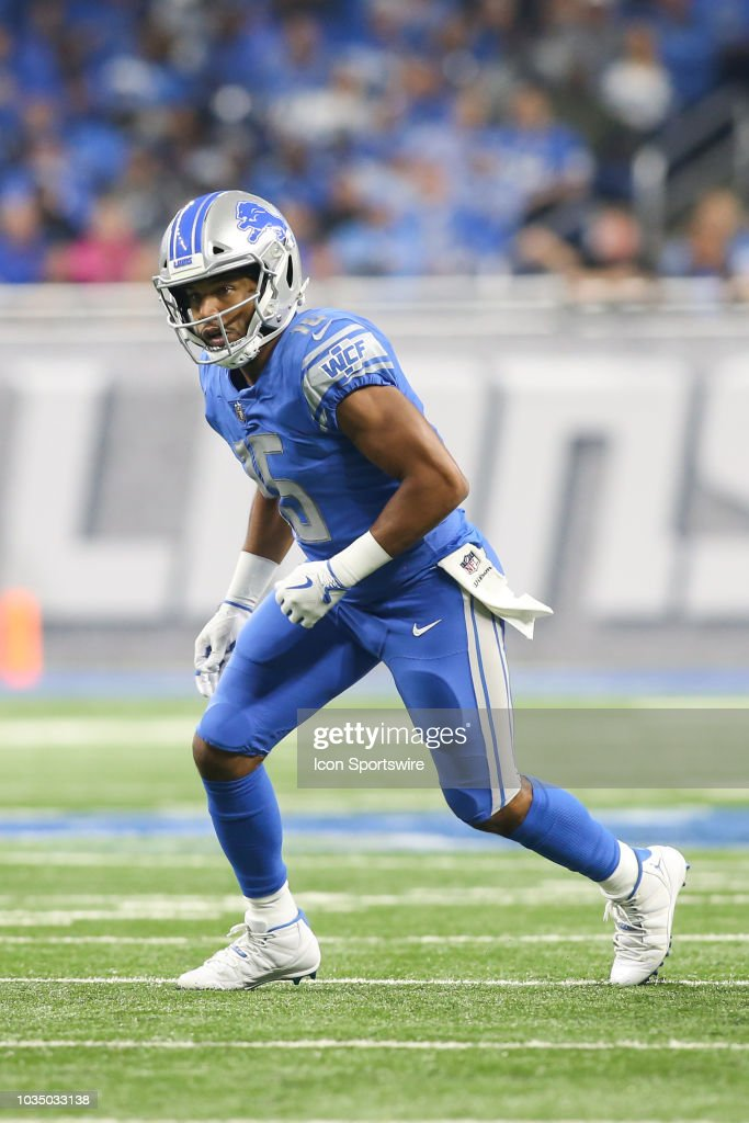 868c4460 Detroit Lions wide receiver Golden Tate III runs a pass route during ...