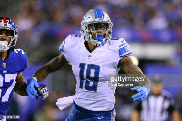 Detroit Lions wide receiver Kenny Golladay during the National Football League game between the New York Giants and the Detroit Lions on September 18...