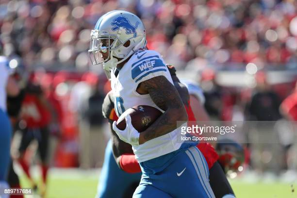 Detroit Lions wide receiver Kenny Golladay in action during the NFL game between the Detroit Lions and Tampa Bay Buccaneers on December 10 2017 at...