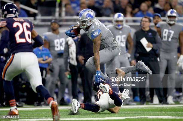 Detroit Lions wide receiver Kenny Golladay runs for yardage after a catch against the Chicago Bears at Ford Field on December 16 2017 in Detroit...