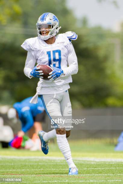 Detroit Lions WR Kenny Golladay during NFL football practice on August 20 2019 at Detroit Lions Training Facilities in Allen Park MI