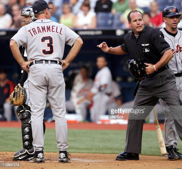 Detroit manager Alan Trammell is ejected by home plate umpire Tim Timmons tonight Trammell was eventually tossed from the game at the Rogers Centre...