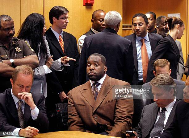 Detroit Mayor Kwame Kilpatrick appears in Wayne County Circuit Court September 4 2008 in Detroit Michigan Kilpatrick pleaded guilty to obstruction of...