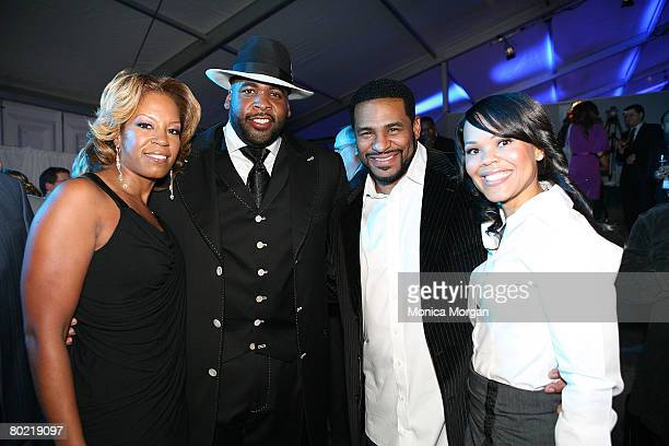 Detroit Mayor Kwame Kilpatrick his wife Carlita Jerome Bettis and his wife Trameka attend the 2nd Annual General Motors Night of Stars Cars Show at...