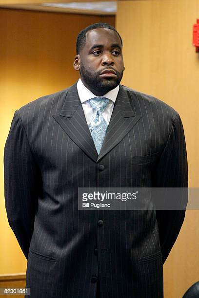 Detroit Mayor Kwame Kilpatrick is arraigned on felony charges charges related to a text messaging scandel in Wayne County Circuit Court August 14...