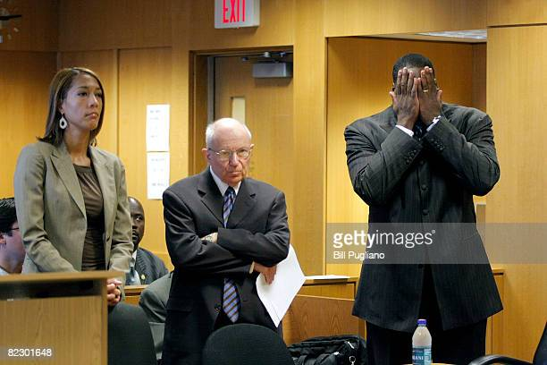 Detroit Mayor Kwame Kilpatrick reacts to hearing that his courtordered tether is to be removed and his travel restrictions loosened during his...