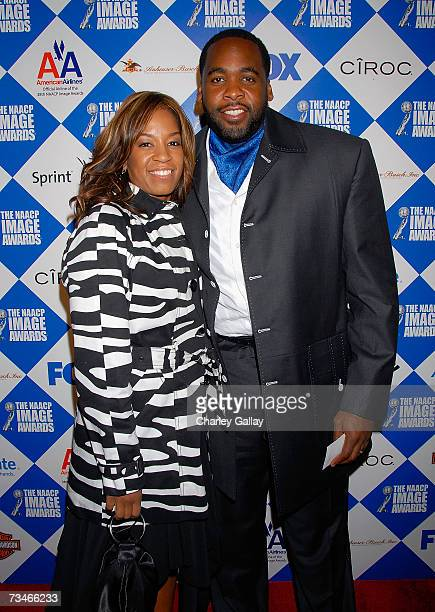 Detroit Mayor Kwame M Kilpatrick and his wife Carlita Kilpatrick arrive at the 38th NAACP Image Awards PreShow Gala at Boulevard 3 on March 1 2007 in...