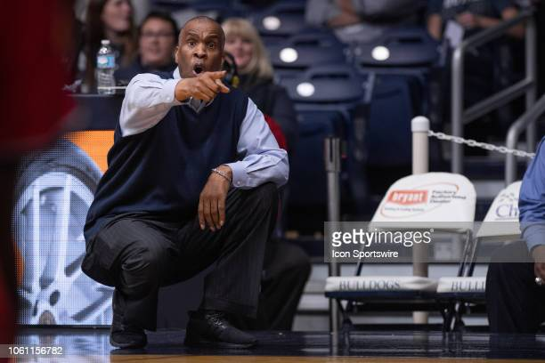 Detroit Mercy Titans head coach Mike Davis on the sidelines during the men's college basketball game between the Butler Bulldogs and Detroit Mercy...