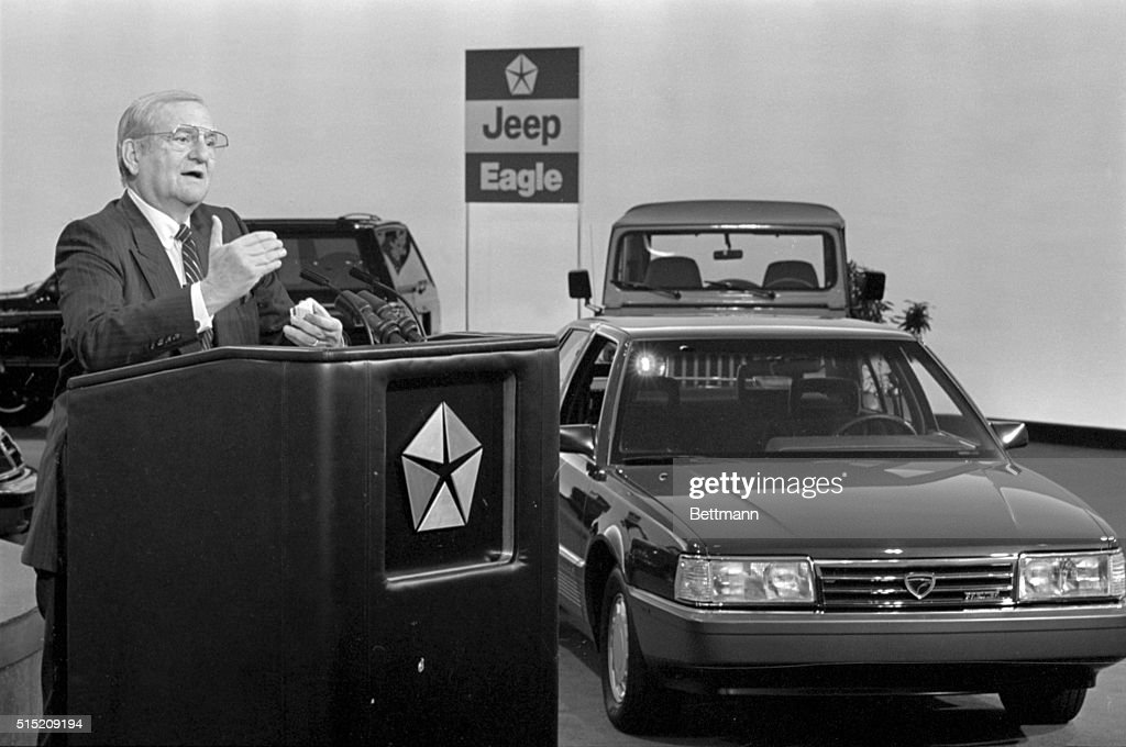 Lee Iacocca Introduces 1988 Models : News Photo