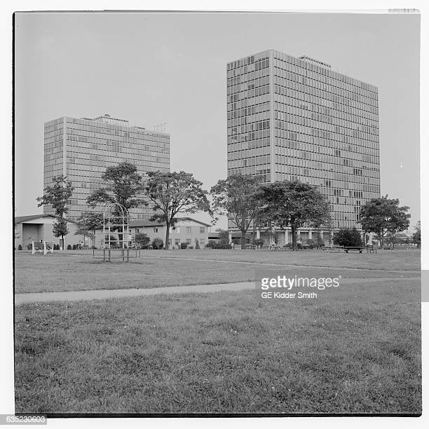 Photograph of Lafayette Park in Detroit The architect was Ludwig Mies van der Rohe and it was built in 1963 Undated photograph