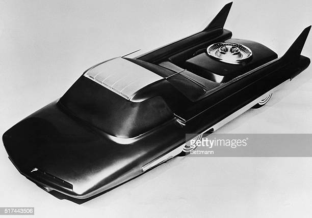 2/13/1958 Detroit MI The Nucleon a 3/8 scale model developed by Ford Motor Co is an advanced styling conception of an atomicpowered car of the future...