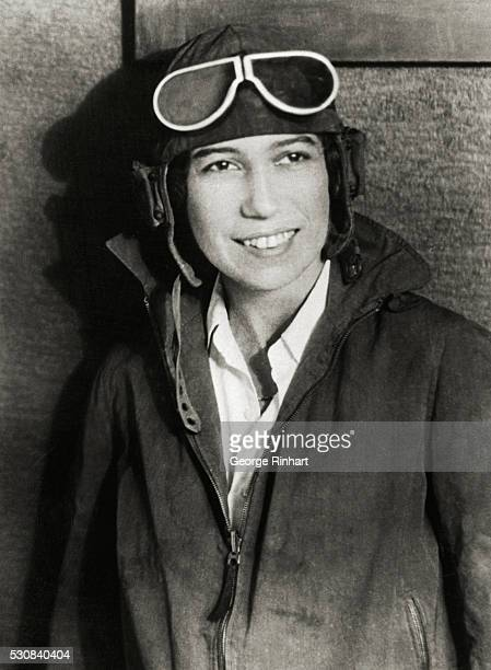 Detroit, Michigan: Famous Women Pilots To Vie For Edsel Ford Airplane Reliability Trophy. Mrs. Keith Miller, who will fly a Fairchild KR-34 biplane...