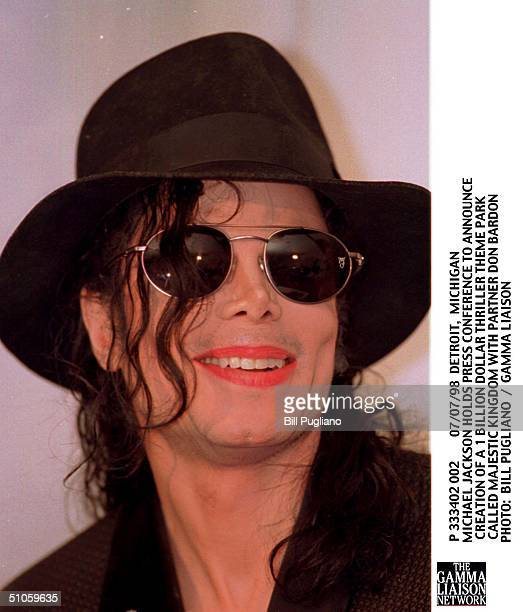 Detroit Michigan Michael Jackson Holds Press Conference To Announce Creation Of A 1 Billion Dollar Thriller Theme Park Called Majestic Kingdom With...