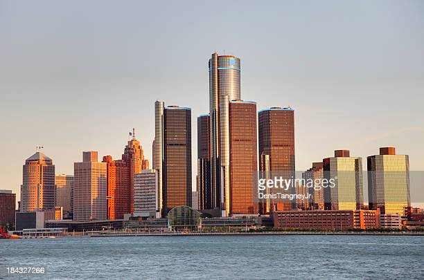 detroit, michigan - detroit michigan stock-fotos und bilder
