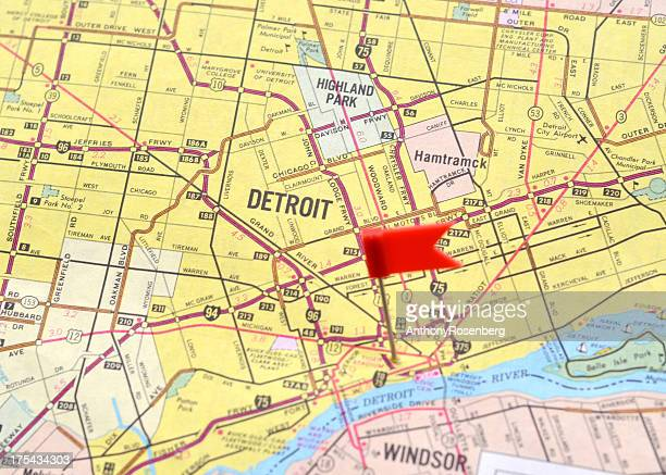 60 Top Detroit Map Usa Pictures, Photos, & Images - Getty Images Detroit Map In Usa on