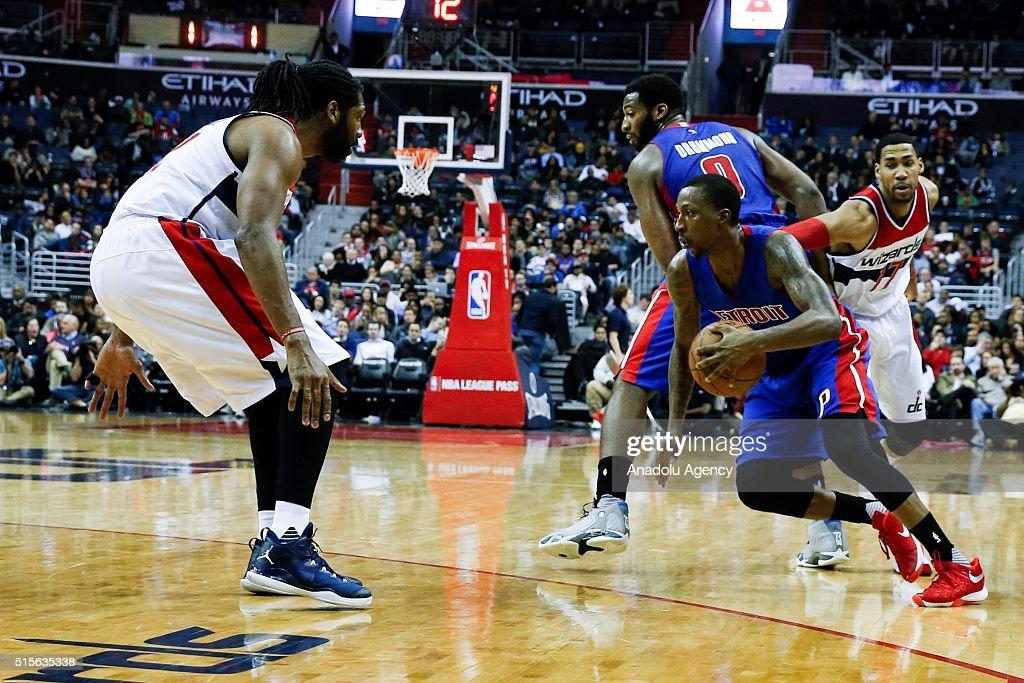 Washington Wizards vs Detroit Pistons: NBA : ニュース写真